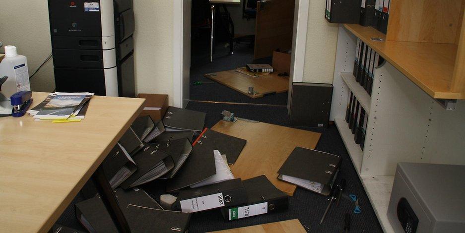"""Foto  Einbrecher haben die Räume des Vereins """"Sonderspaß"""" verwüstet,"""